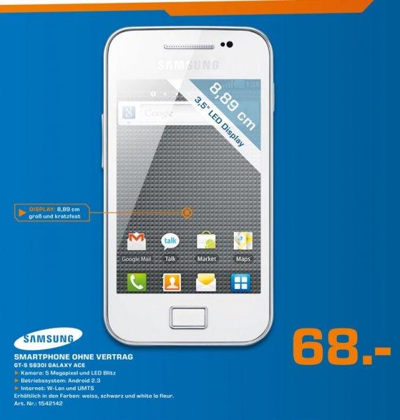 Samsung Galaxy Ace S5830i für 68€ Lokal [Saturn Hagen,Iserlohn]