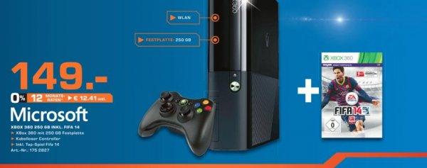 XBOX 360, 250 GB & FIFA 14 im Saturn