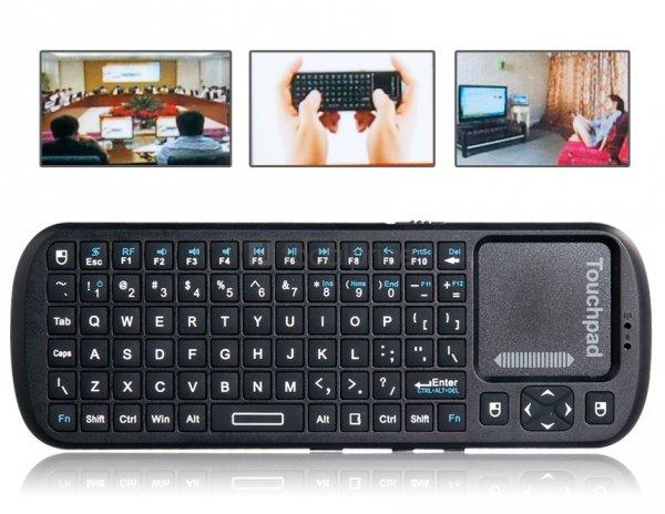 KP-810-19 2.4G Bluetooth Tastatur (QWERTY) mit Mauspad