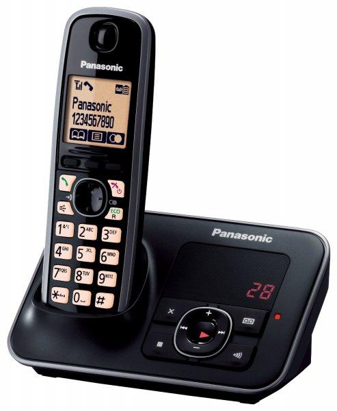 [Conrad.de] Schnurloses Telefon analog Panasonic KX-TG6621GB Schwarz, Silber Beleuchtetes Display Anrufbeantworter  für 20,95€ (mit NL- Gutschein)