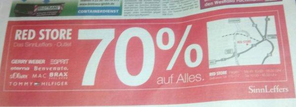 SinnLeffers Outlet 70% auf alles. Lokal Hagen