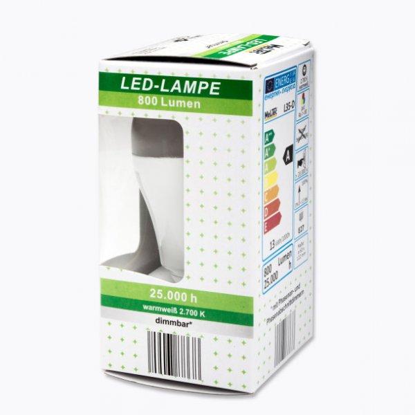 12,5 W LED (entspricht ca. 60 Watt Glühbirne) dimmbar warmweiß bei Aldi Nord