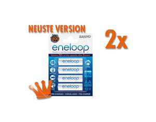"Sanyo™ - 8er-Pack AA ReadytoUse Mignon NI-MH Akkus ""eneloop HR-3UTGB"" für €14,99 [@MeinPaket.de]"