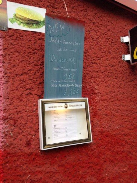 Döner für 1.70€ oder mit Getränk 2.20€ [lokal Schönefeld bei Berlin]