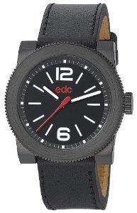 [Amazon] Edc Herren-Armbanduhr XL retro spirit - raven black Analog Quarz Leder EE100781004