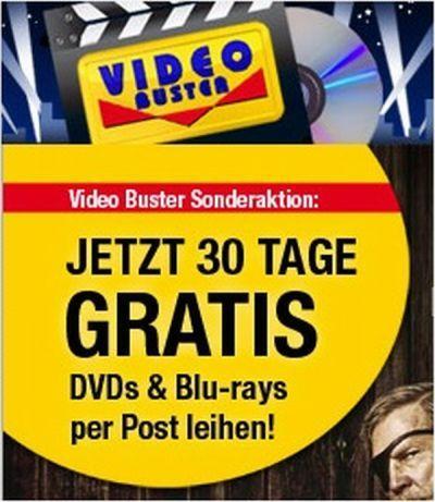 Videobuster - 30 Tage Gratis Filme leihen für Neu- und (ausgewählte) Bestandskunden