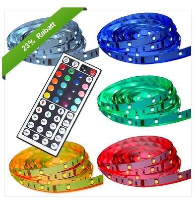 [Ebay WOW] 5M LED RGB Streifen / Strip ink. 44 Key Fernbedienung für  22,95€