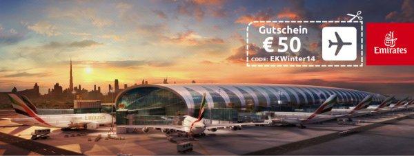 € 50 Gutscheincode für Emirates Buchungen über Opodo.de / Shanghai, Hongkong ab € 469 / Malediven, Philippinen ab € 605 / Bangkok, Vietnam ab € 489 / Kapstadt, Nairobi ab € 497 / Mumbai ab € 409 / Dubai ab € 330 uvm!