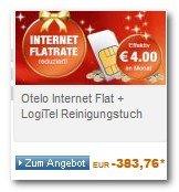 Otelo 3GB UMTS Datenflat (7,2Mbit/s) bei Logitel für rechn. 4EUR/Monat (24Monate Laufzeit)