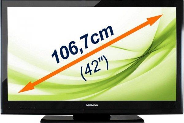 42 Zoll FullHD LCD-TV 3D von Medion für 288 Euro + evtl. 10 Euro Newsletter Rabatt