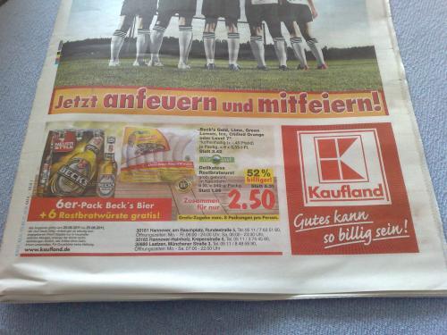6er Becks + 6er Bratwurst bei Kaufland zum Hammer Preis