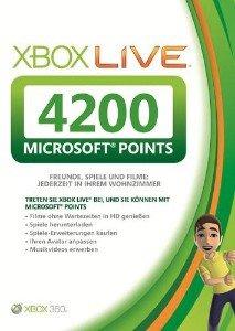 [Zur Zeit nicht mehr Lieferbar] XBOX Live Points 4200 - 50€