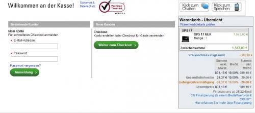 Besser als Media Markt angebot !! Dell XPS 17 MLK  mit 3D LCD für nur 989€