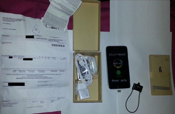 [Lokal] Saturn Berlin Alexanderplatz Samsung Galaxy Note 3 +DVB-T-Tuner Mini 487 € - 100 € Cashback