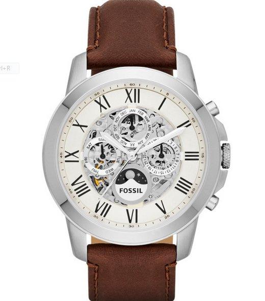 Fossil Grant Automatik Leder Braun ME3027 für 175€ statt 229€ und viele weitere günstige Uhren