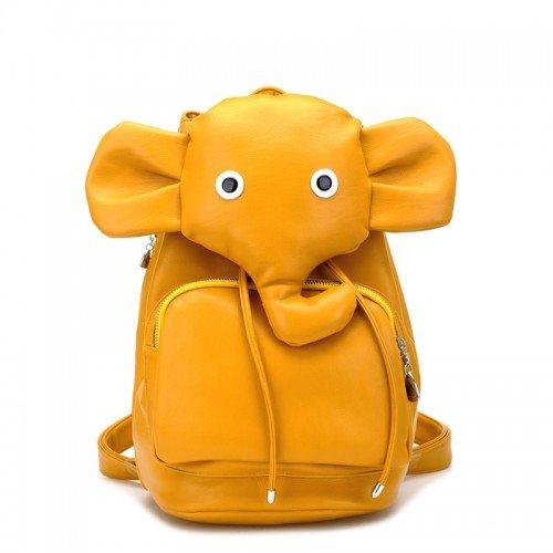 Cute Rucksack in Elephant-Figur aus PU Leder