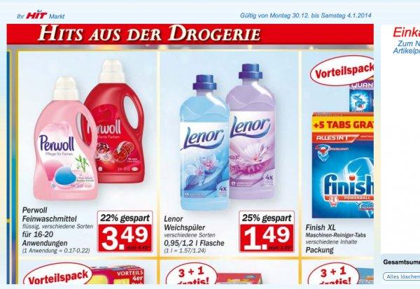2x Lenor Weichspüler je 1,2L für nur 1€ ( pro FLasche 0,50€) im HIT Bundesweit