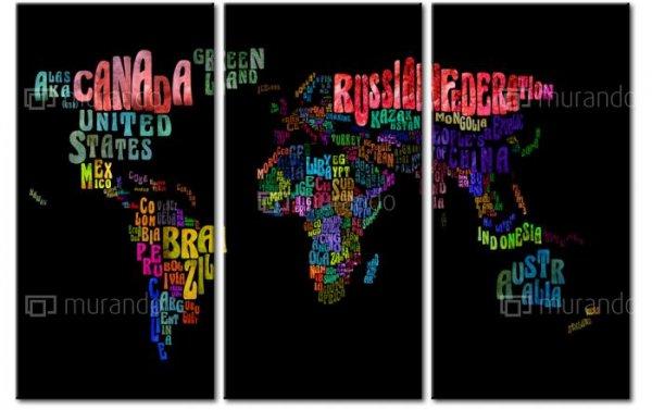 Welt- und Länderkarte auf Leinwand in drei verschiedenen Formaten ab 24,95 € (bis zu 78% sparen)+9,90€ Versandk.