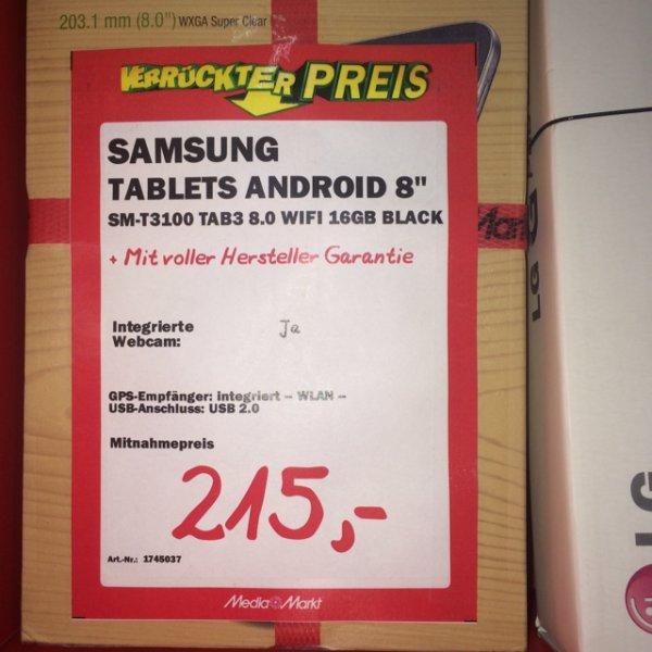 "Samsung Galaxy Tab 3 SM-T3100 8"" 16GB"