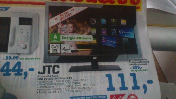 """[Lokal Edeka-Center Tübingen] JTC 24"""" LED Full-HD Smart TV für 111€"""
