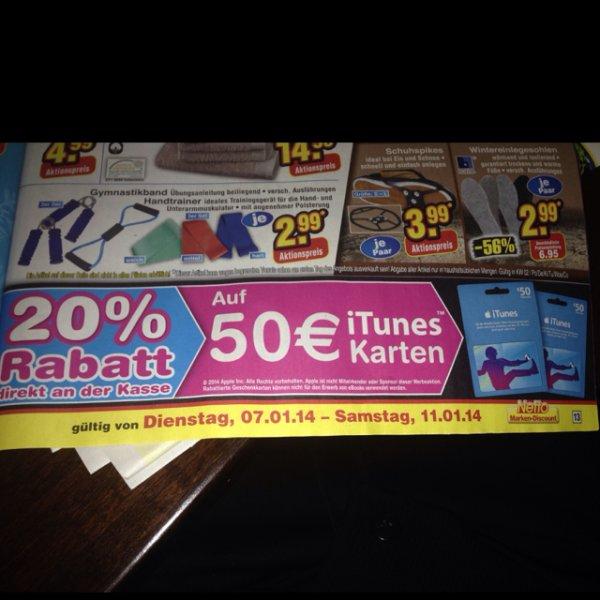 Apple iTunes Karten -20% @ Netto