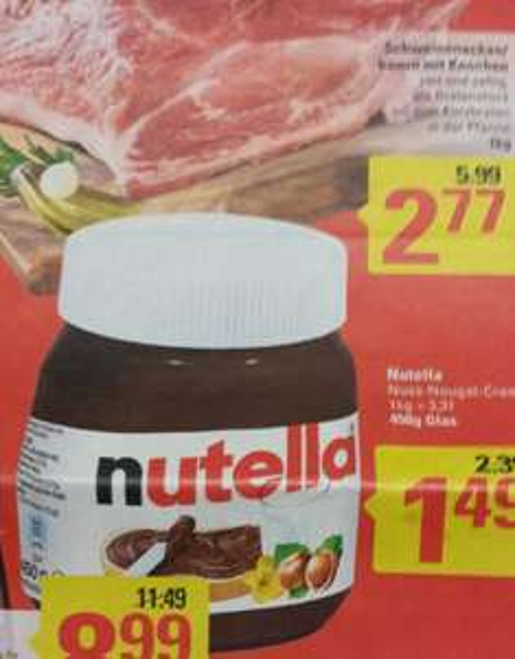 ab 6.1.14 Nutella 450g Glas für 1,49€ @Marktkauf (bundesweit?)