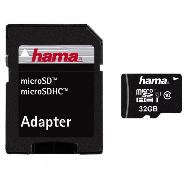 Hama microSDHC 32GB Class 10 UHS-I 45Mbps 19,99€ [SATURN SUNDAY]