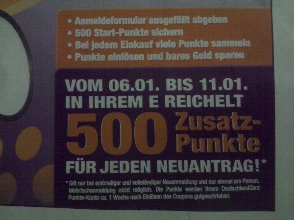 [Berlin] * 5€ bei E - Reichelt nach einer Woche bei neu Antragsausfüllung DeutschlandCard durch erhalt von 500 Punkte