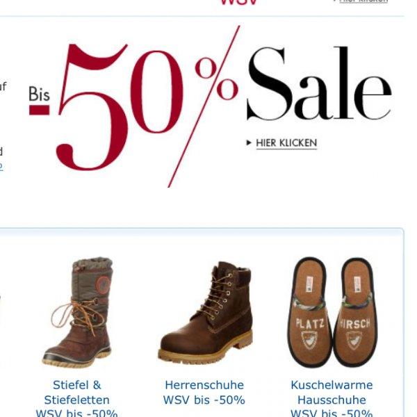 Amazon WSV 50% auf Schuhe & Taschen