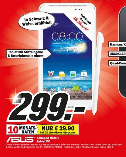 Asus FonePad Note 6 299€ Lokal [Mediamarkt Krefeld]