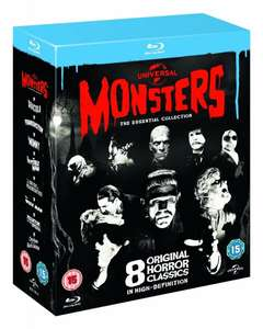 [Amazon.uk] Universal Classic Monsters: The Essential Collection [Blu-ray] (8 Disc) inkl. Vsk für ca.24 €