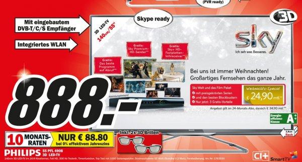 Philips 55PFL4908K für 888€ Lokal [Mediamarkt Krefeld]