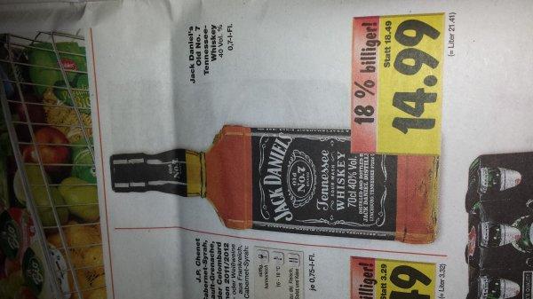 Jack daniels 0.7 nur 14.99