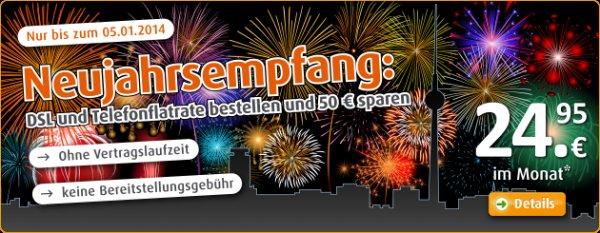 Easybell - Komplett easy ohne Bereitstellungsgebühr von 50€