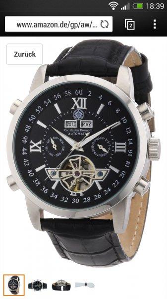 Constantin Dumont Herren Armbanduhr für 99€ statt 349€  amazon.de