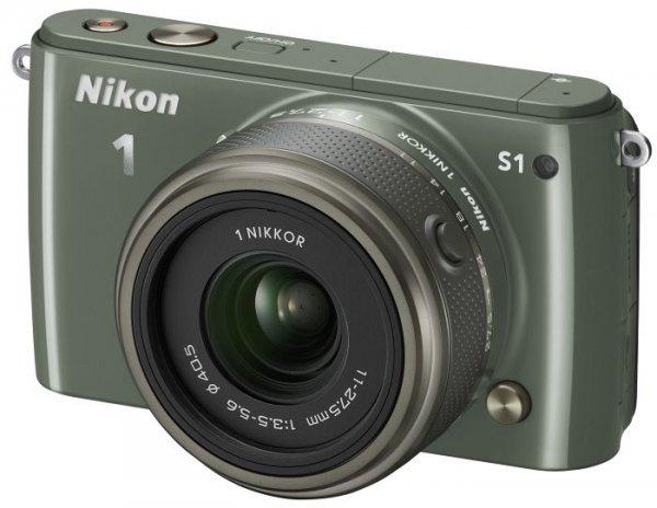 Khaki-EVIL-Cam Nikon S1 mit 11-27,5 mm Objektiv @comtech zu 225,99€
