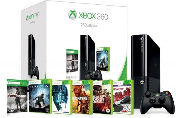 Xbox 360 E 250GB + 6 Spiele für 214€ @Amazon.co.uk