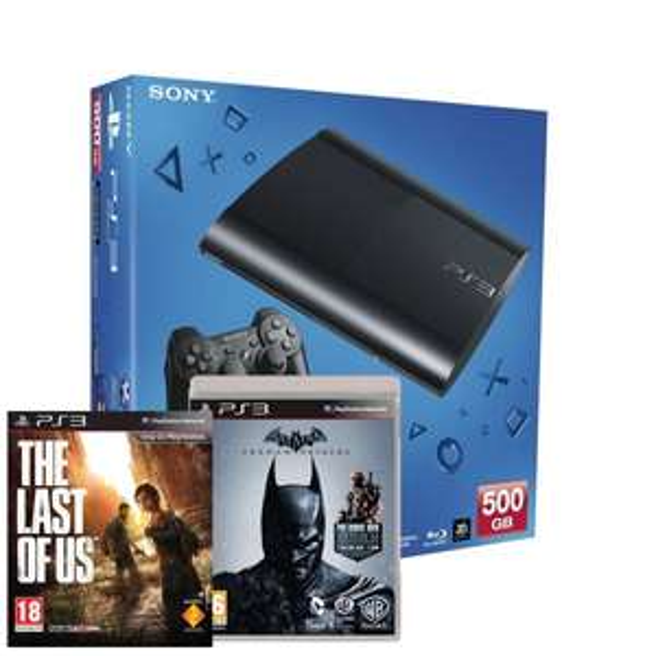 (Amazon UK) Sony PlayStation 3 500GB mit Batman: Arkham Origins & The Last of Us