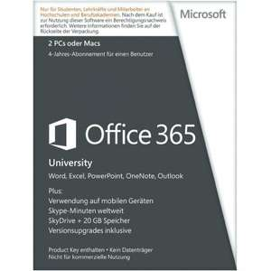 [Conrad] Office 365 University für 45,99 €