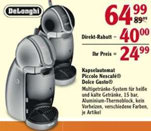 [Lokal] DeLonghi Dolce Gusto Piccolo bei Globus WI-Nordenstadt