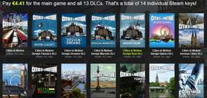 Bundle Stars - BUNDLE- Cities in Motion - 14 Steam Keys - 4,41 €