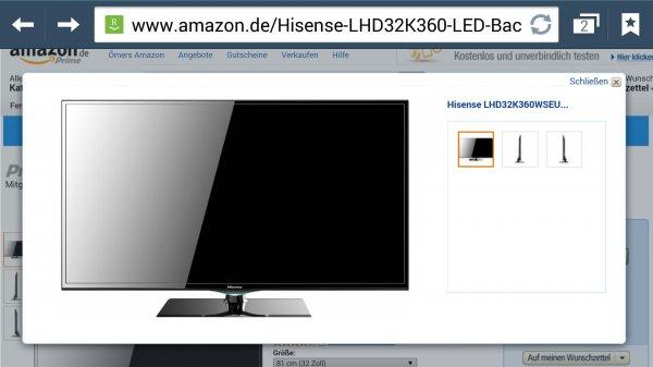 Hisense lhd32k360 Led-Blacklight-Fernseher Smart TV für 222€ bei Amazon.de