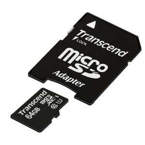Transcend TS64GUSDU1 64 GB, Class10, SDXC UHS-I  im Blitzangebot bei Amazon