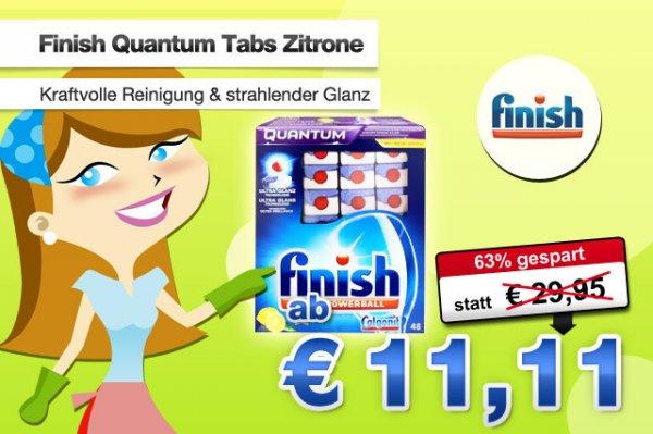 Calgonit Finish Quantum Powerballs 48 Stück für nur 11,11 Euro inklusive Versand - @deals.preisvergleich.de