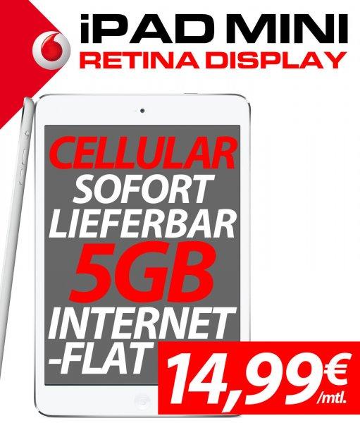 iPad mini Retina 16 GB Wifi + Cellular inkl. 5GB Datenvolumen D2 - Student, Schüler, Junge Leute, Behindert, Selbständige