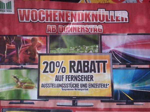 20 % auf alle Fernseher bei Marktkauf ab dem 09.01.2014