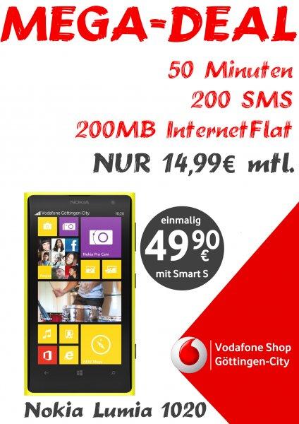 Lumia 1020 mit Vertrag für 14.99 im Monat