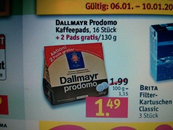 Dallmayr Prodomo, 18 Kaffeepads für 1,49 Euro