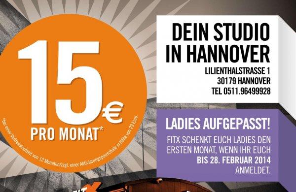 FitX Hannover 1. Monat kostenlos für Frauen