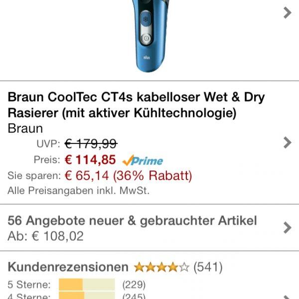 Braun Serie Cooltec CT4S